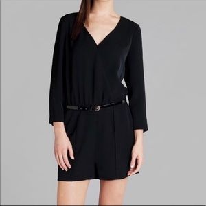 TED BAKER BLACK LONG SLEEVE ROMPER